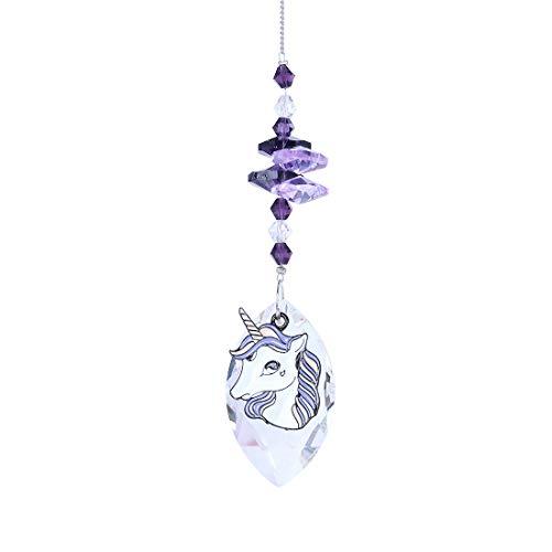 Crystalsuncatcher Purple Crystal Suncatcher Rainbow Maker,Horse ()