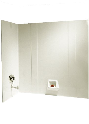 Swanstone RM-58-037 High Gloss Tub Wall Kit, Bone Finish