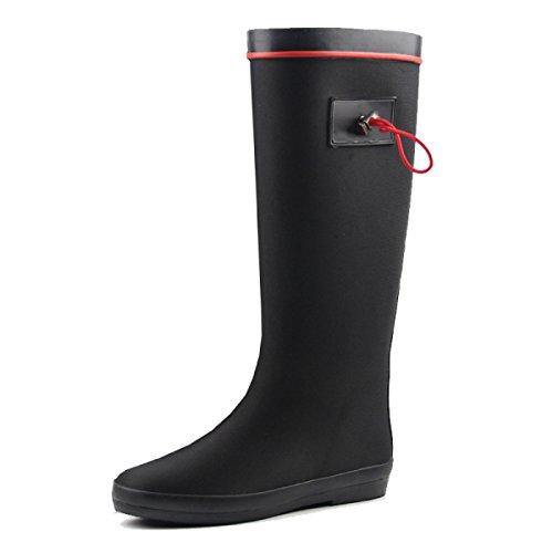 HOFFNUNG Männer Frauen Regen Stiefel Wasser Schuhe Wasserdicht Anti-Schlamm Vier Jahreszeiten Anti-Rutsch Tasteless Soft,B-c A