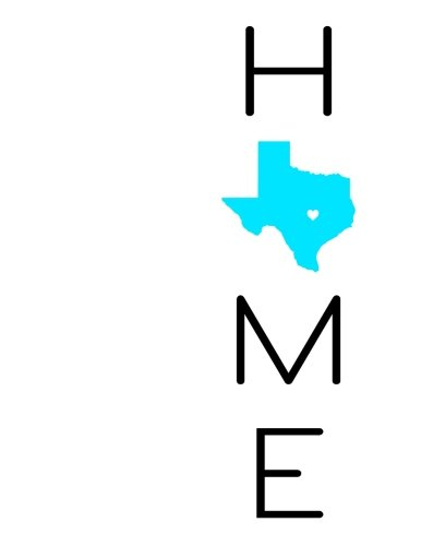 Home: Discreet Internet Website Password Organizer, Large Print Book, Texas State Pride, Birthday, Friendship, Christmas, Texas Gifts for Men and Women, 8 1/2