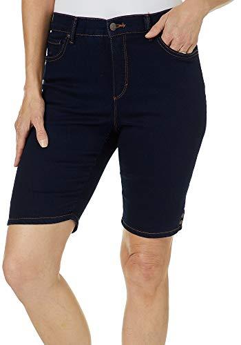 Gloria Vanderbilt Petite Amanda Bermuda Denim Shorts 12P Dark Rinse