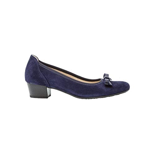 Heeled 22 Gabor Court 202 Block Navy Shoe Suede Hawick S66aRAf