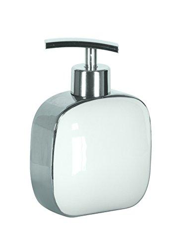 Kleine Wolke 5082127854 Seifenspender Pearl, Bad-Accessoires, weiß / silber