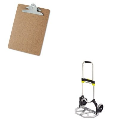 KITSAF4062UNV40304 - Value Kit - Safco Stow-Away Medium Hand Truck (SAF4062) and Universal 40304 Letter Size Clipboards (UNV40304) by Safco