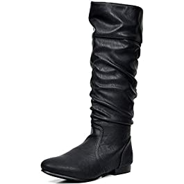 DREAM PAIRS Women's Knee High Boots (Wide-Calf)