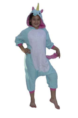 [Blue Unicorn Kids Kigurumi (5-9 Years)] (The Best Halloween Costumes Ever Made)