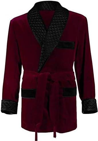 [해외]Duke & Digham 남성용 스모킹 재킷 / Duke & Digham Men`s Smoking Jacket (X-Large, Burgundy)