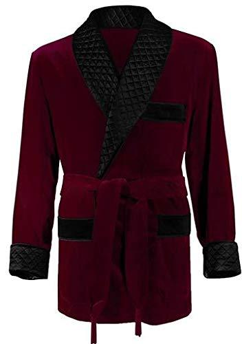 Regency New York Men's Smoking Jacket (Medium, Burgundy) by Regency New York