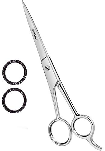 Professional Barber Hair Cutting Scissors/Shears (6.5-Inch) - Ice Tempered Stainless Steel Reinforced with Chromium to Resist Tarnish and Rust - by Utopia Care ()