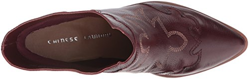 Wine Leather Boot Chinese Laundry Fiona Western Women's YPqYO