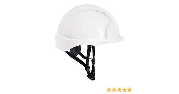 JSP ajg250 – 000 – 100 EVO3 Linesman antideslizante de carraca casco, blanco: Amazon.es: Industria, empresas y ciencia