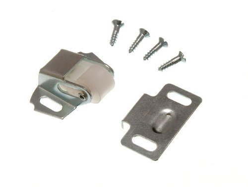 SINGLE ROLLER CATCH CUPBOARD LATCH BZP WITH SCREWS ( pack of 100 ) by ONESTOPDIY.COM