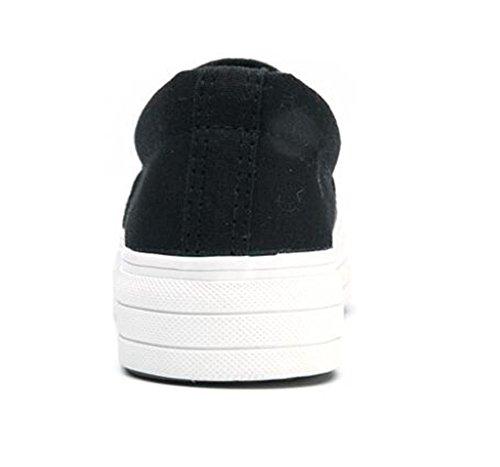 37 Zapatos Negro Interno Movimiento Aumento Ocio Cómodo Señora 36 Estudiantes Casual PU Silver Zapatos BLACKSILVER XIE Blanco 5qF6xw4