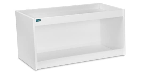 TrippNT 50487 PVC Straight Double Safety Shelves 24 Width x 10 Height x 7 Depth White