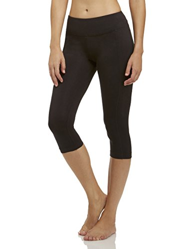 Marika Cotton Pants - Marika Women's Carrie Slimming Capri Leggings, Black, Small