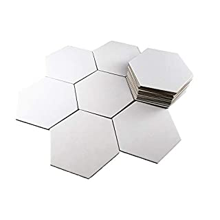 Apostrophe Games 20 Large Blank Hexagon Board Game Chit Tiles (Settlers of Catan Size)