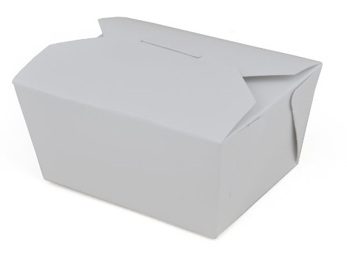 "Southern Champion Tray 0771 #1 ChampPak Retro Take-Out Container, White Paperboard with Poly Coated Inside, 4-3/8"" L x 3-1/2"" W x 2-1/2"" H (Pack of 450)"