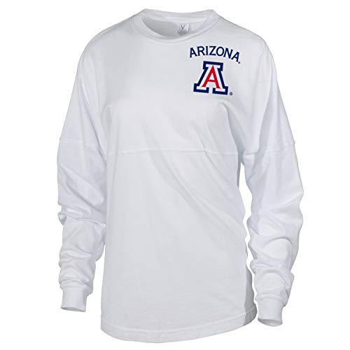 - Official NCAA Venley University of Arizona Wildcats U of A Wilber Wildcat BEAR DOWN! Women's Long Sleeve Spirit Wear Jersey T-Shirt