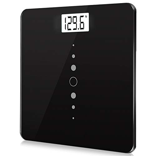 Digital Body Weight Bathroom Scale with Step-On Technology, Backlight Display, High Precision Measurements, 440Ibs/31st/200kg Capacity