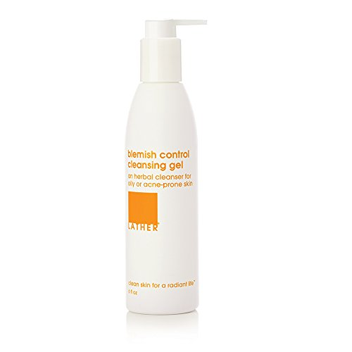 LATHER Blemish Control Cleansing Gel 6 oz - deep cleaning, foaming gel cleanser for oily or problem skin