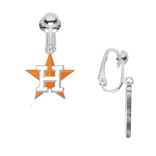 (Final Touch Gifts Houston Astros Star Logo Earrings Clip-On)