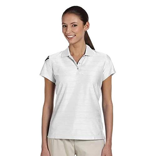adidas Golf Ladies ClimaCool Mesh Polo - White/Black A135 M