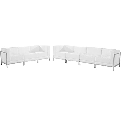 Flash Furniture HERCULES Imagination Series Melrose White Leather Sofa Set, 5 Pieces