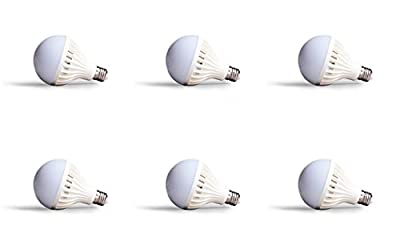 6 PACK 7 Watt Ultra Wide DC Voltage Range 12 Volt to 85 Volt 6000K Cool White LED Light Bulb DC 12V To 85V E26 Screw Lamp RV 12 Volt 24 Volt 48 Volt Off Grid Tiny House Solar Panel Motor Home RV Pop Up Tent Barn Shed Camping Glamping Bus Ferry Yacht Light