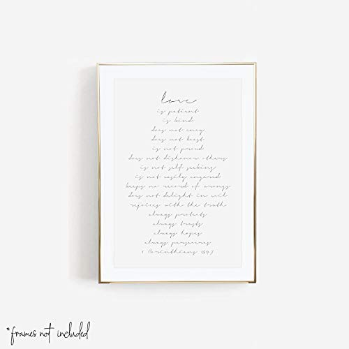 Love Is Patient, Is Kind, Does Not Worry, Does Not Boast -1 Corinthians 13:4-7 Print, Unframed