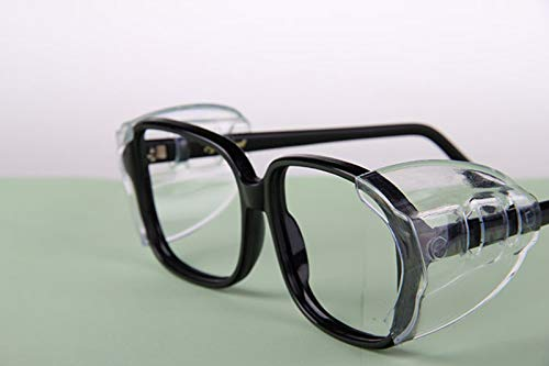 3 Pairs Eye Glasses Side Shields Flexible Slip on Side Shields for Safety Glasses Fits Medium to Larger
