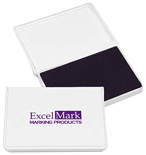 Purple Ink Pad - ExcelMark Ink Pad for Rubber Stamps 2-1/8