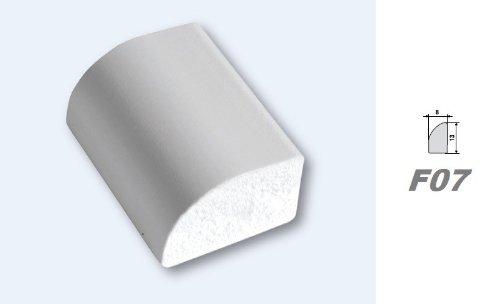 F07 2 Meter PVC Eckprofil Viertelstab Kunststoff Profil Stuck sto/ßfest 8x13mm