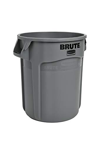 Rubbermaid Commercial Products FG262000GRAY-V Brute Container with Venting Channels, 20 gal, Gray, (Pack of 6)