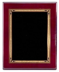 Rosewood Engraved Plaque - 8 x 10 Piano Finish Rosewood Plaque with Engraved Plate