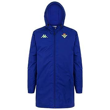 Abrigo impermeable acolchado de entrenamiento - Real Betis Balompié  2018 2019 - Kappa Arminzip 2 Jkt - Azul - Adulto  Amazon.es  Deportes y  aire libre b24f9f884eb95