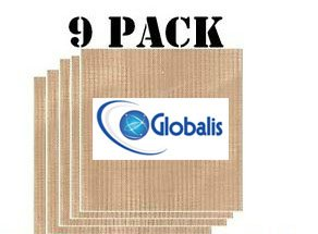 Globalis- Superior 9 Pack Super Non-stick, Dupont Teflon Re-usable Food Dehydrator Sheets for Excalibur 2500, 2900, 3500, 3900 or 3926t. Sheet Measures 14