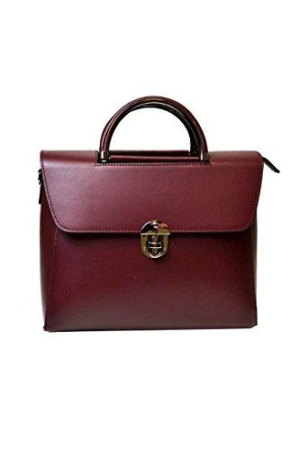 LuanaRomizi.com 8081P18IB - Bolso de asas para mujer Rojo