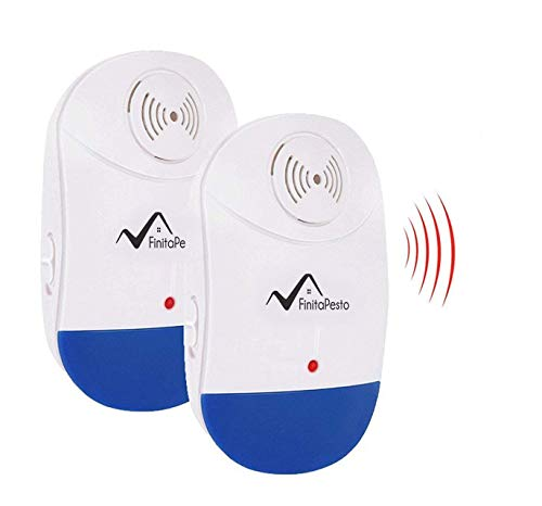 Ultrasonic Pest Repeller - Pack of 2-100% Safe for Pets - Get Rid of Pests in 7 Days Or It's Free