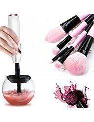 Makeup Brush Cleaner, Clean and Dry All size Makeup Brushes in Seconds by Sokvin (White)
