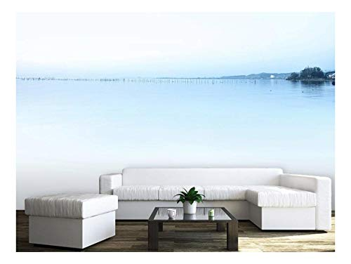 Large Wall Mural Minimalism Landscape of Peaceful Lake Vinyl Wallpaper Removable Wall Decor