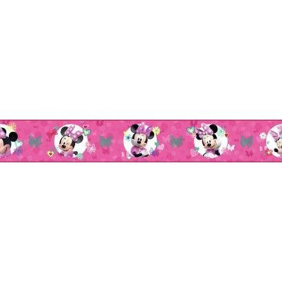 Minnie Mouse Border - York Wallcoverings Kids III Disney Minnie Mouse Border, Pinks