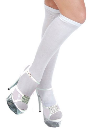 Adult White Knee Highs - White (Adult Gretel Costume)