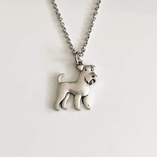 Airedale Terrier or Schnauzer Dog Necklace - Dog Breed Jewelry - Gift for Dog Lover
