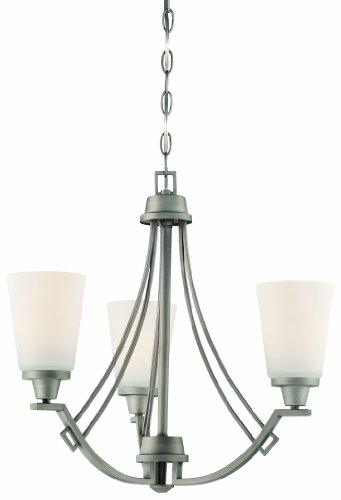 Antique Pewter Finish Chandeliers (Thomas Lighting 190109718 Wright Chandelier, Antique Pewter)
