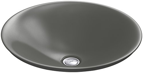 (KOHLER K-7806-58 Carillon Wading Pool Round Above-Counter Bathroom Sink, Thunder Grey)