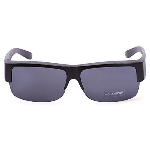 Donne Nero Mezza Montatura Sheen Kelly Gli Su Da A Sole Guida Occhiali E Specchio Per Di Uomini Lenti Polarizzate XO0wk8nP