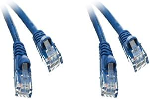 Snagless//Molded Boot 7 Feet Blue 2 Pack Cat5e Ethernet Patch Cable CNE496998
