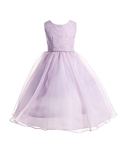 Joy Kids Big Girls Lace Special Occasion Flower Girl Ankl...