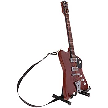 SM SunniMix Miniature Musical Instrument Toys Stylish Electric Guitar Model with Display Stand /& Storage Box 1//6 Scale Decoration Crafts Black