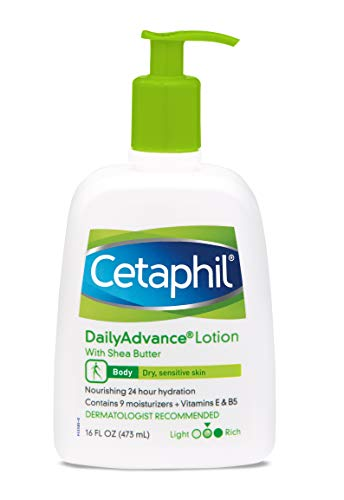 - Cetaphil Daily Advance Ultra Hydrating Lotion With Shea Butter For Dry, Sensitive Skin, 16 Ounce